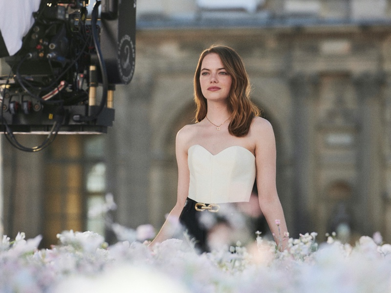 BEHIND THE SCENES: Actress Emma Stone on set of new Louis Vuitton perfume shoot