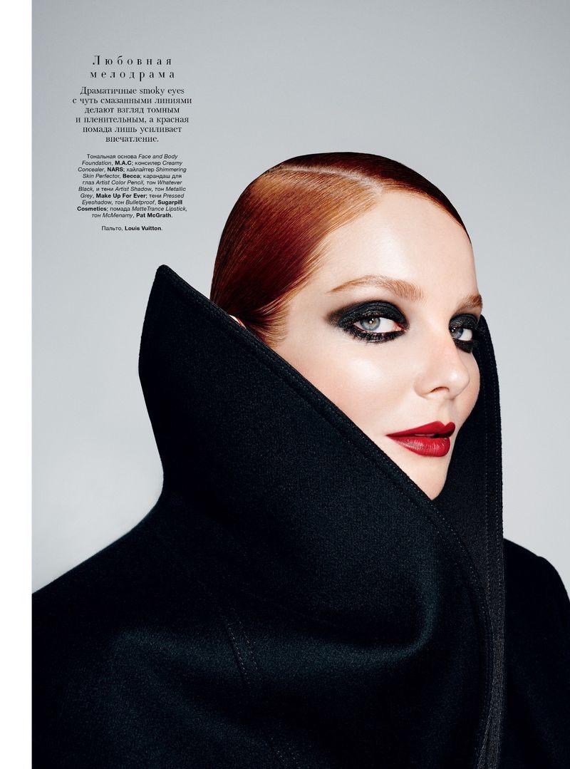 Eniko Mihalik Stuns in Dramatic Makeup for Harper's Bazaar Ukraine