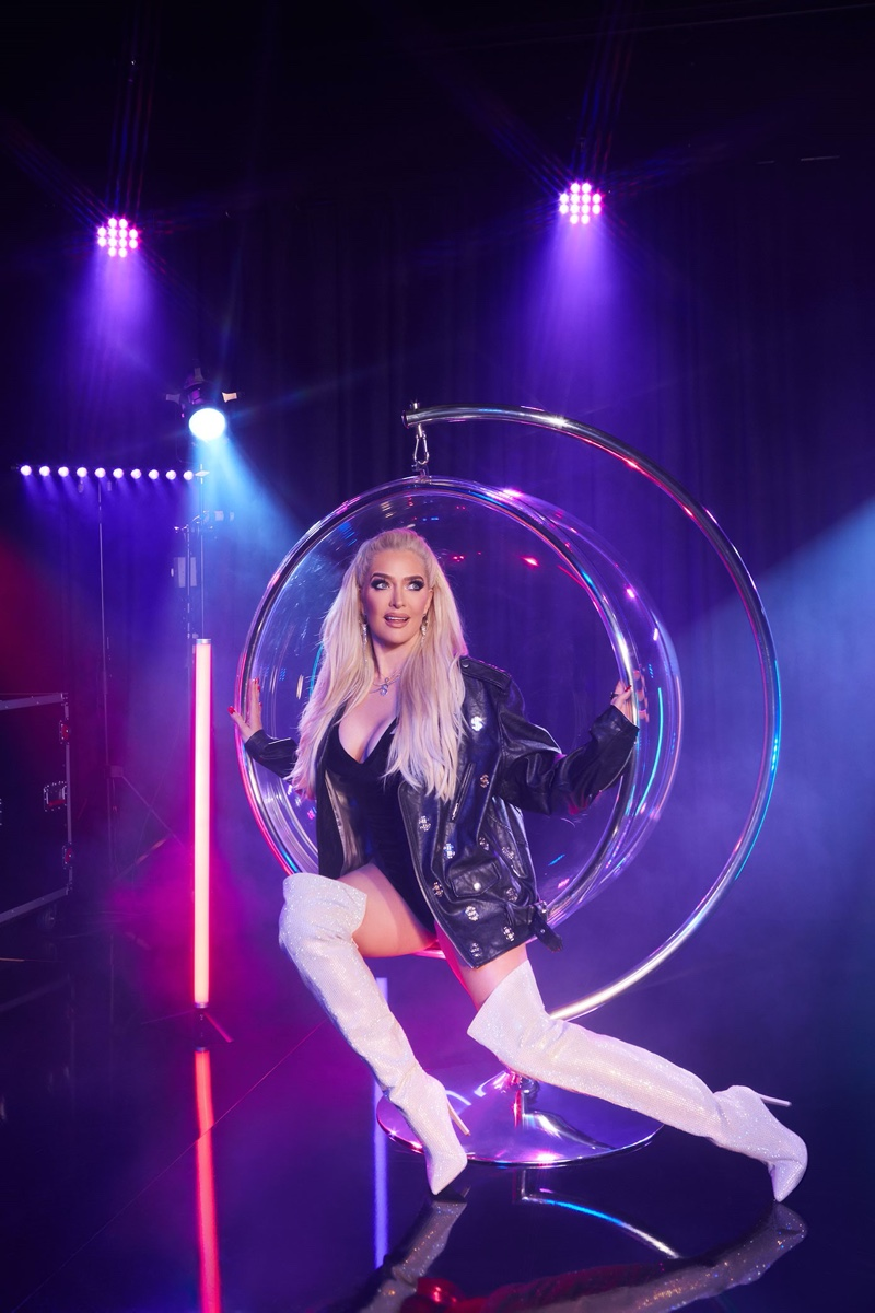 Erika Jayne poses in Charmed boot from ShoeDazzle Holiday 2019 collaboration