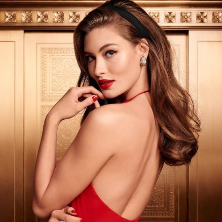 Grace Elizabeth appears in Estee Lauder Holiday 2019 campaign
