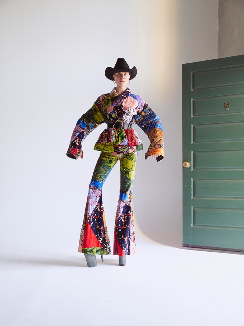 Channeling western style, Evan Rachel Wood embraces colorful prints from Rosie Assoulin