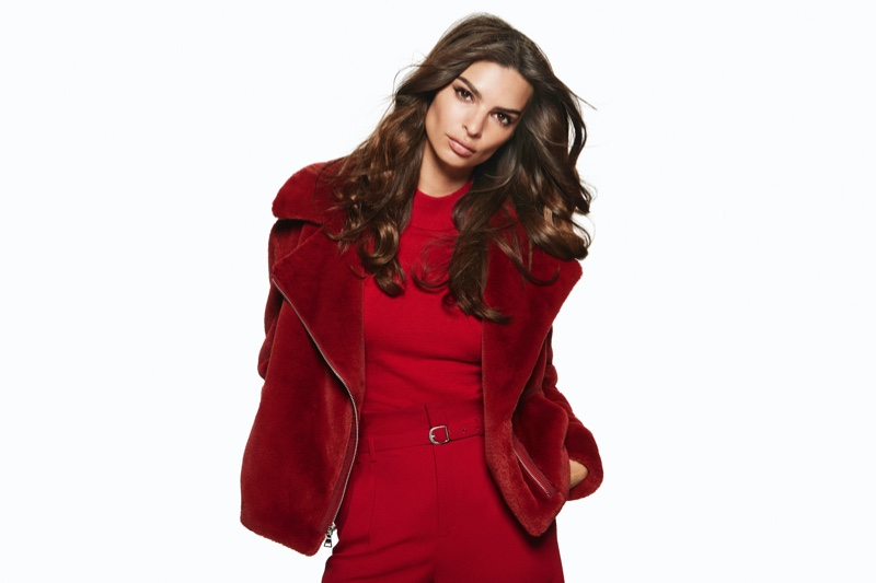 Dressed in red, Emily Ratajkowski fronts Express Holiday 2019 campaign