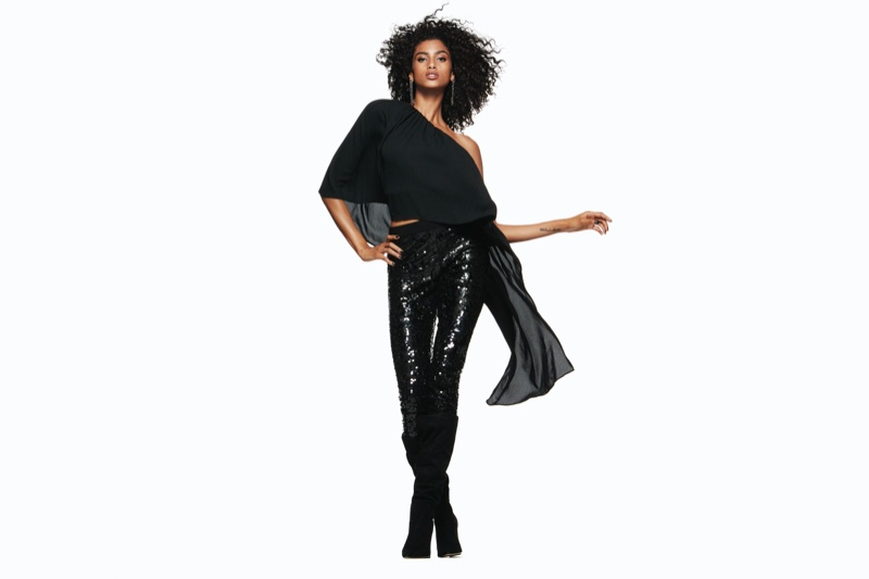 Imaan Hammam appears in Express Holiday 2019 campaign