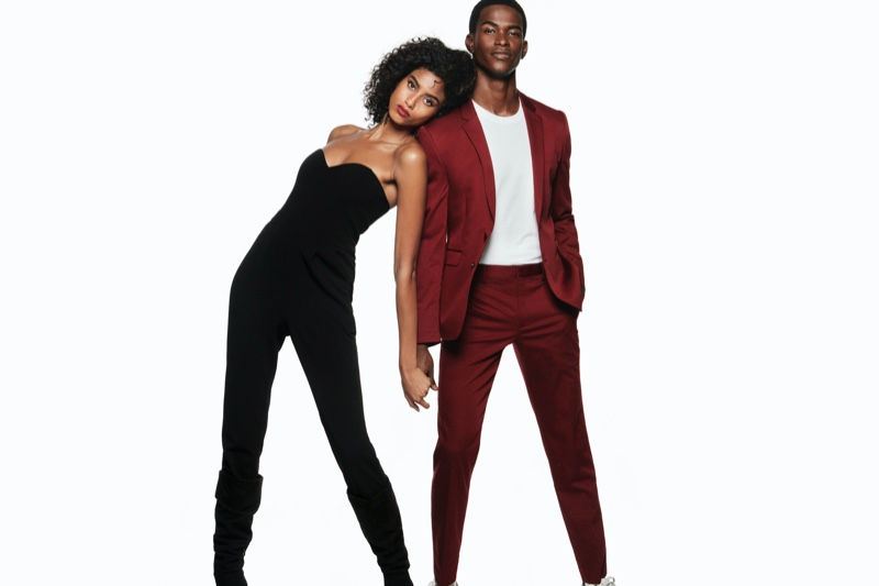 Imaan Hammam and Salomon Diaz appear in Express Holiday 2019 campaign