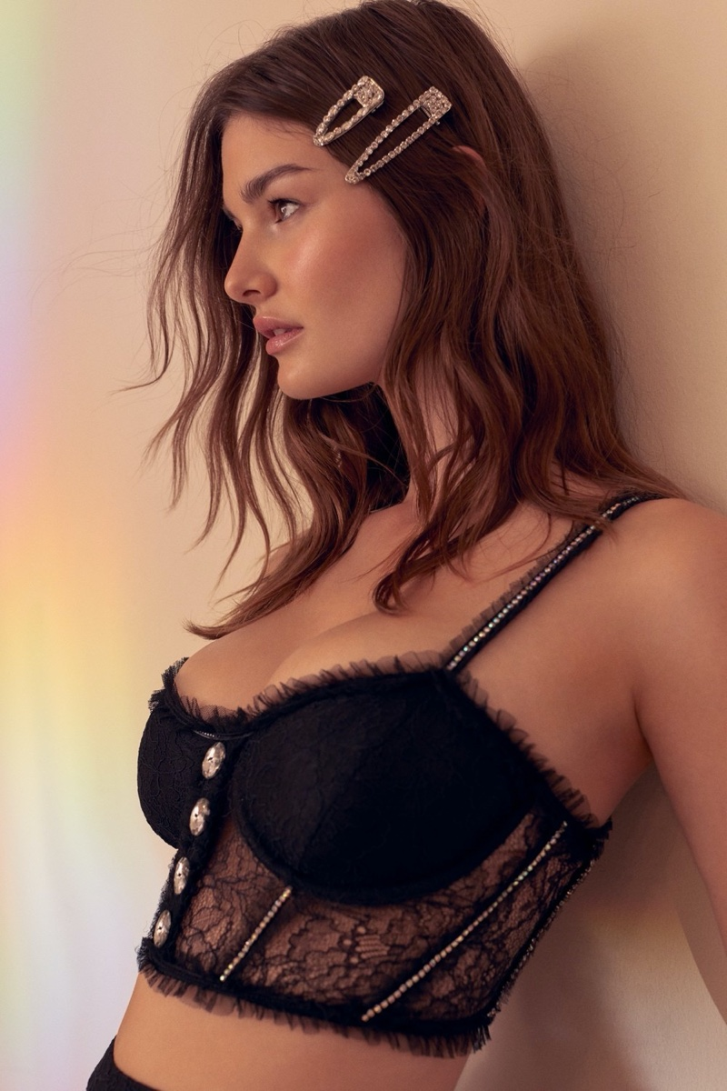 For Love & Lemons x Victoria's Secret Stardust Lace Bustier