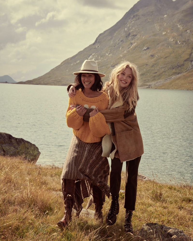 Photographed by Andreas Ortner, Camilla Christensen and Lydia Graham front Free People holiday 2019 campaign