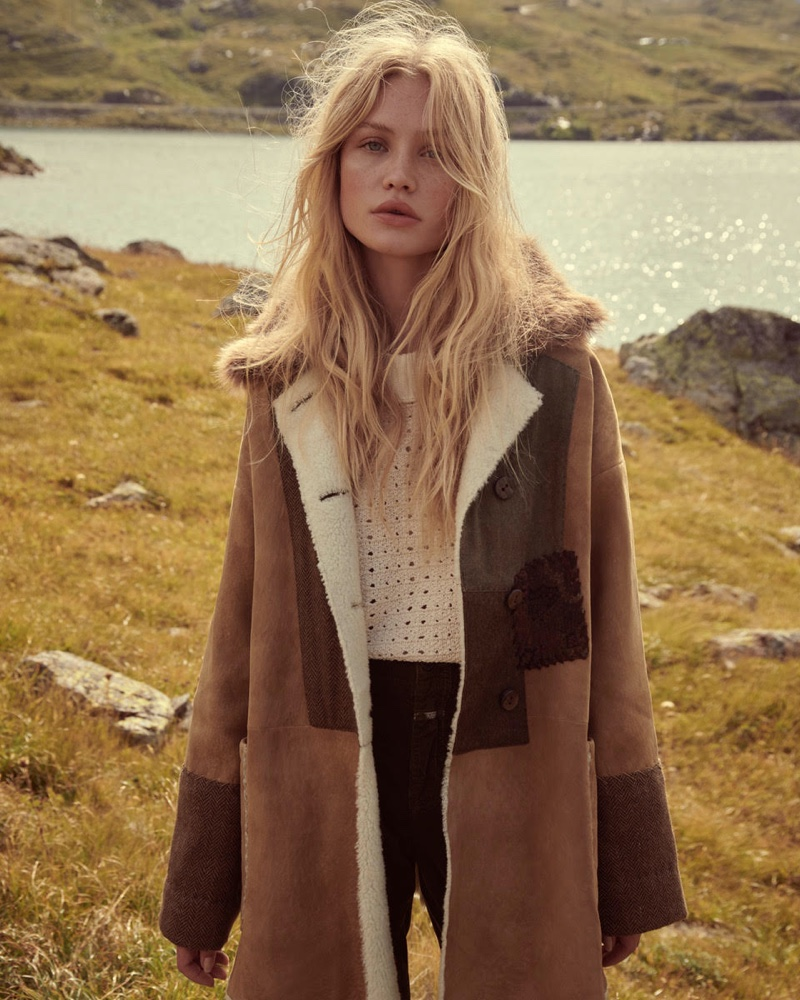Camilla Christensen layers up in Free People holiday 2019 campaign