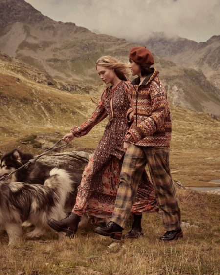 Camilla & Lydia Head to the Swiss Alps for Free People Holiday '19