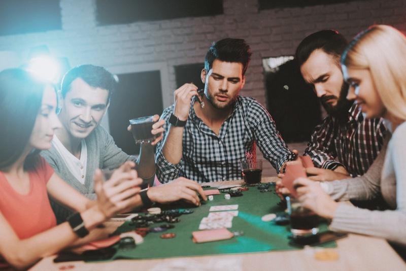 Gambling Cards Men Women Casual Style