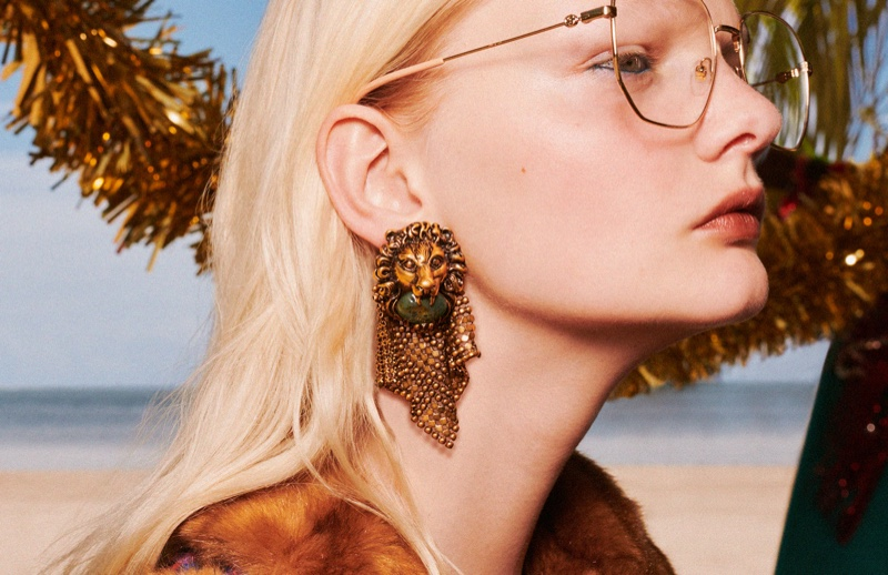 Gucci highlights earrings in Holiday 2019 campaign