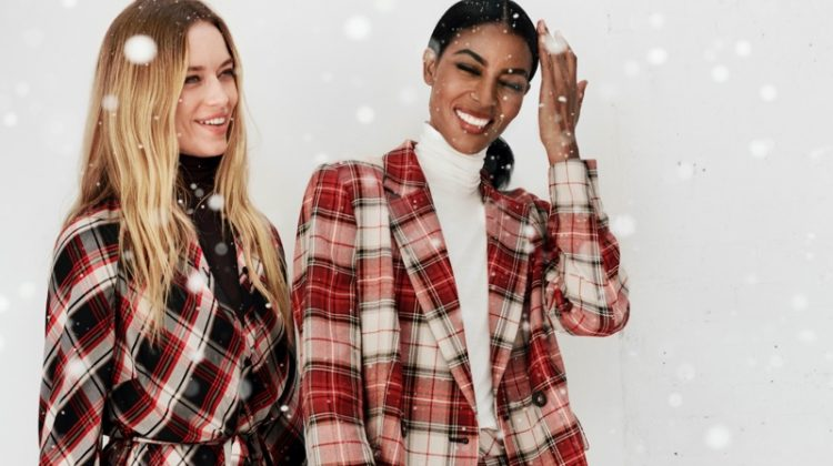 Hannah Ferguson and Maya Haile Samuelsson star in H&M Holiday 2019 campaign