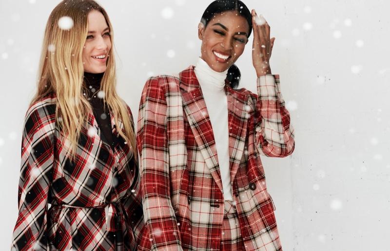 Hannah Ferguson and Maya Haile Samuelsson star in H&M Holiday 2019 campaign
