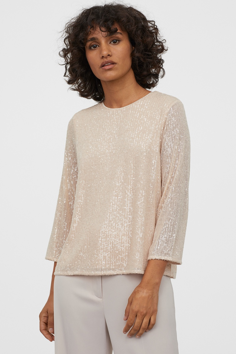 H&M Sequined Top $34.99