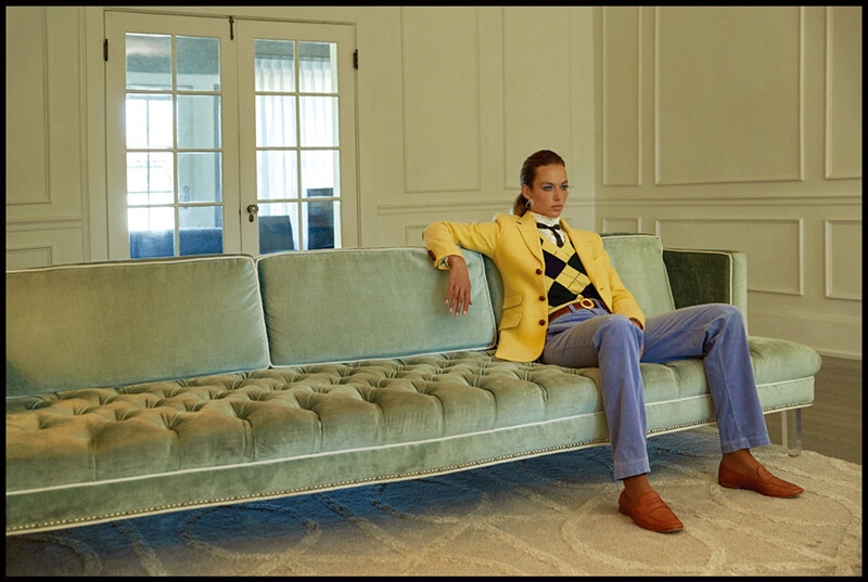 Hannah Ferguson Channels 1970's Fashion for Vogue Korea