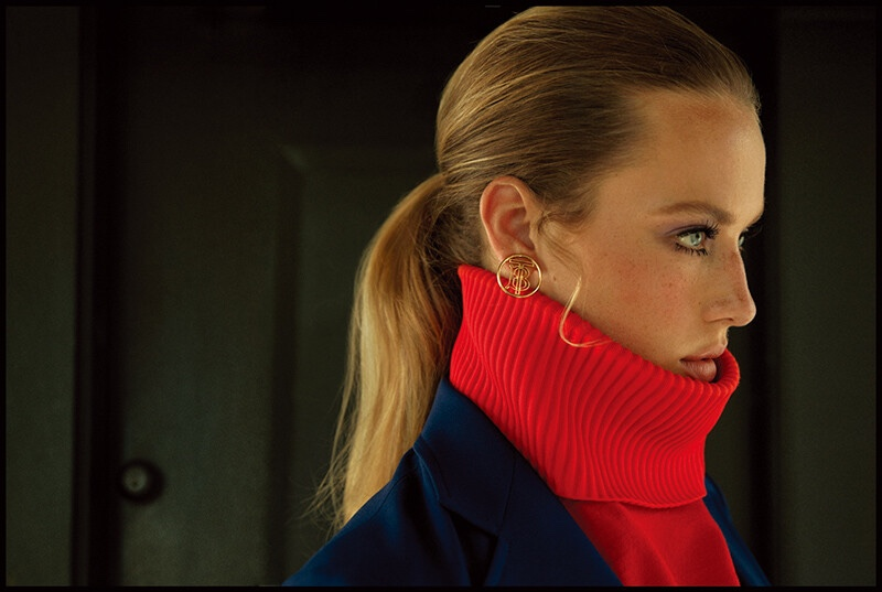 Hannah Ferguson Channels 1970's Fashion for Vogue Korea
