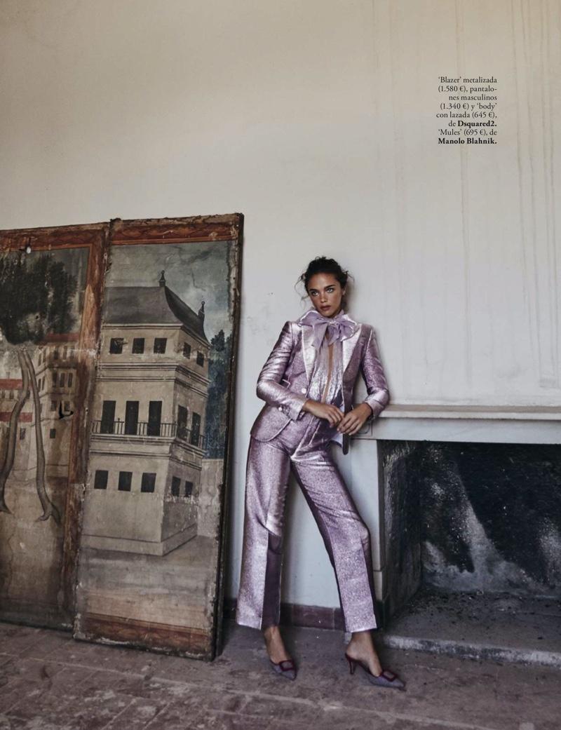 Jena Goldsack Poses in Elegant Fashions for ELLE Spain