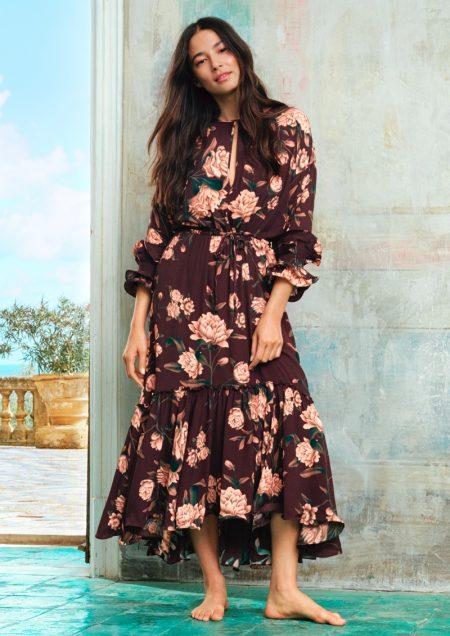 Jessica Gomes models dress from Johanna Ortiz x H&M collaboration