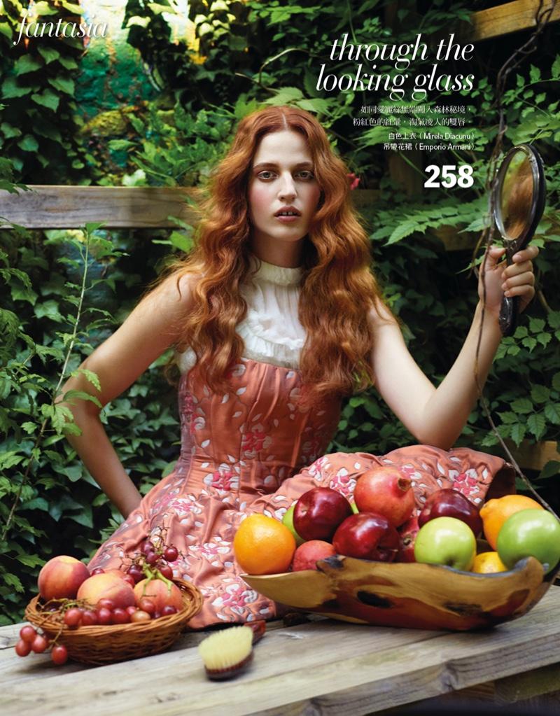 Julia Banas Models Fairytale Beauty for Vogue Taiwan