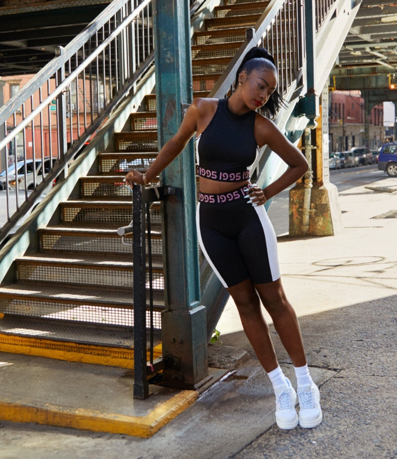 Singer Justine Skye poses for H&M collaboration campaign