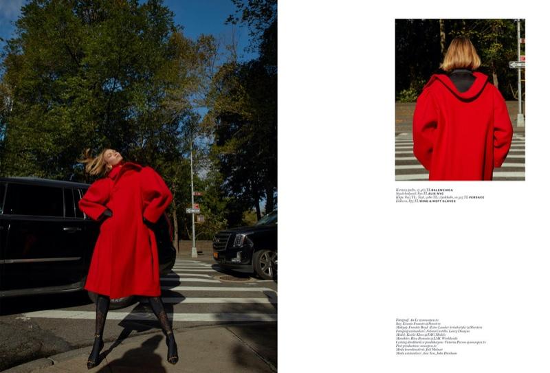 Karlie Kloss Models Autumn Outerwear for Vogue Turkey