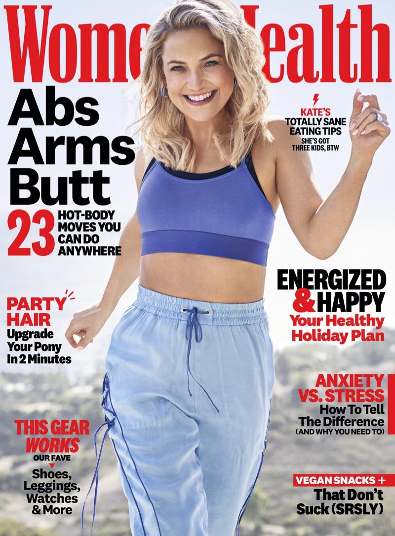 Kate Hudson on Women's Health December 2019 Cover