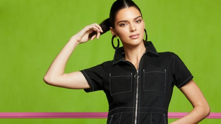 Kendall Jenner wears denim in Penshoppe Holiday 2019 campaign