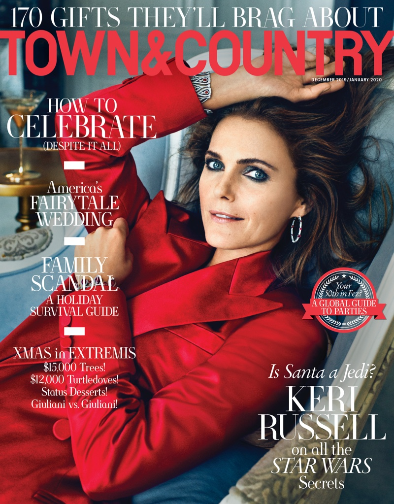 Keri Russell on Town & Country December-January 2019.2020 Cover