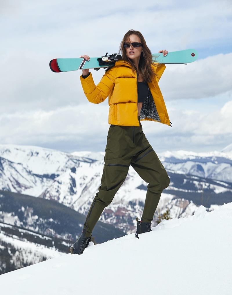 Kinga Trojan Models Luxe Ski Style for Aspen Peak