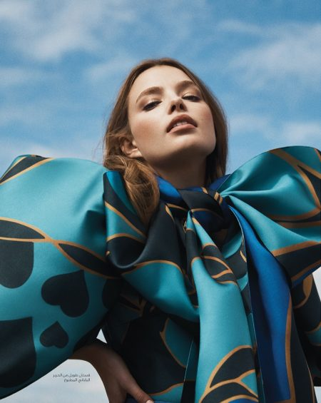 Actress Kristine Froseth embraces print for the photoshoot