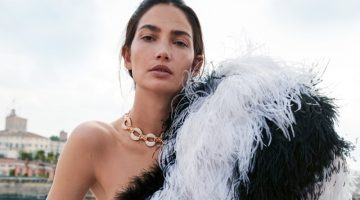 Lily Aldridge Embraces Luxe Fashions for Harper's Bazaar Russia