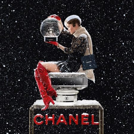 Actress Lily-Rose Depp appears in Chanel No. 5 Holiday 2019 campaign