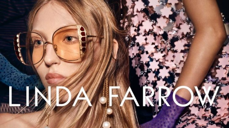Ella Richards stars in Linda Farrow spring-summer 2020 campaign