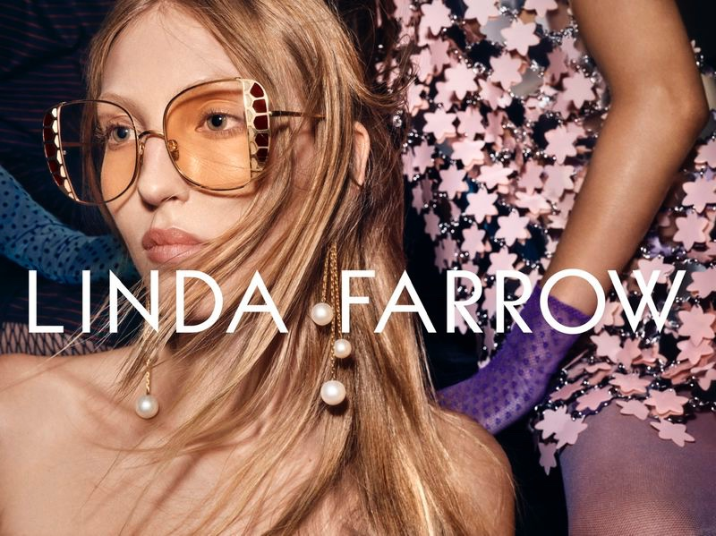 Ella Richards stars in Linda Farrow spring-summer 2020 campaign