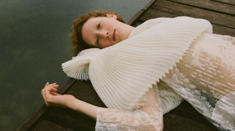 Lorna Foran Enchants in All White Styles for W Korea