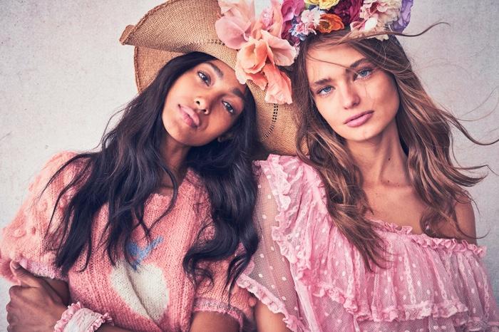 Melie Tiacoh and Anna Mila Guyenz front LoveShackFancy resort 2020 lookbook