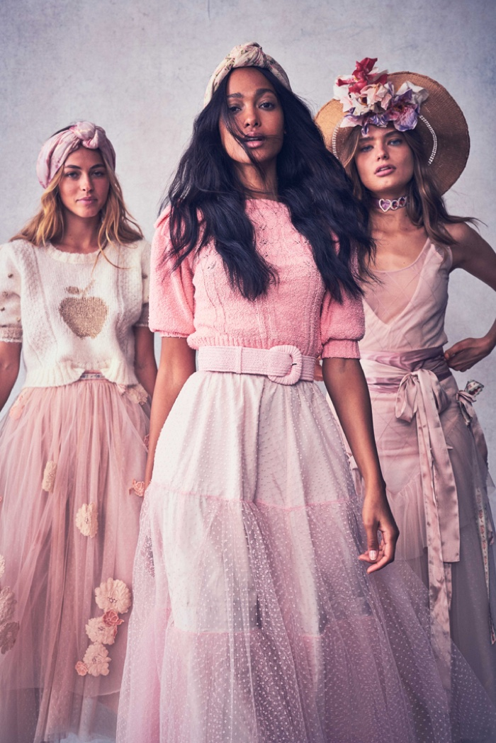 Melie Tiacoh, Caroline Kelley and Anna Mila Guyenz star in LoveShackFancy resort 2020 collection