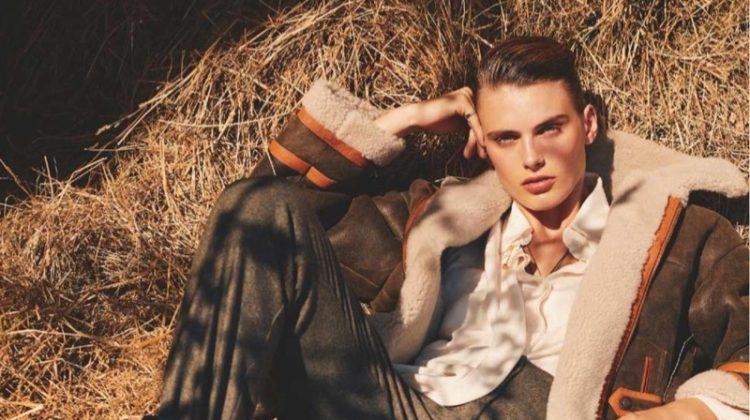 Madison Headrick Poses in Aviator Inspired Looks for ELLE France
