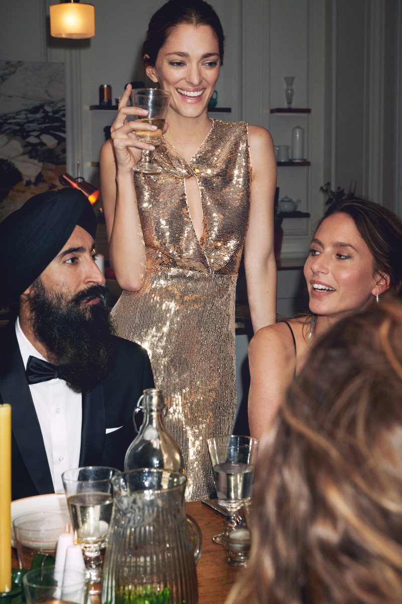 A photo from Mango's Intimate Dinner party holiday 2019 editorial