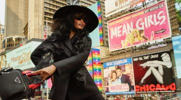 Melodie Monrose Takes Over Times Square for InStyle Germany