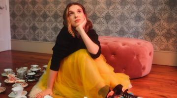 Wearing a tutu skirt, Millie Bobby Brown fronts Converse collaboration campaign