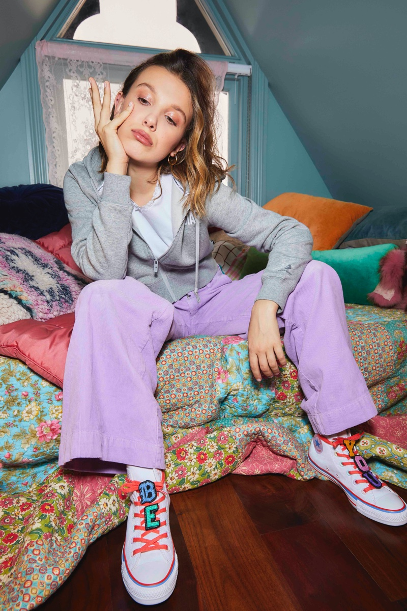 Millie Bobby Brown Wears Second Converse Collaboration