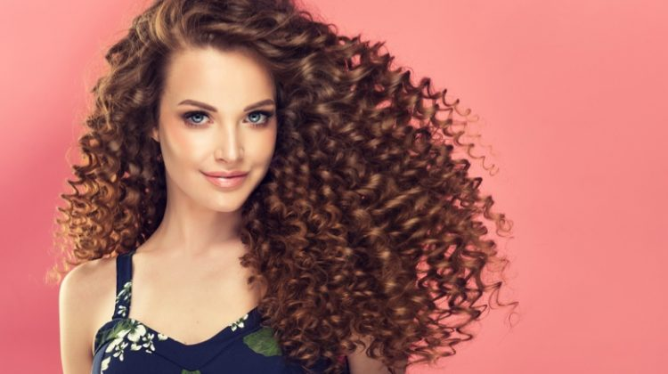 Model Long Brown Curly Hairstyle