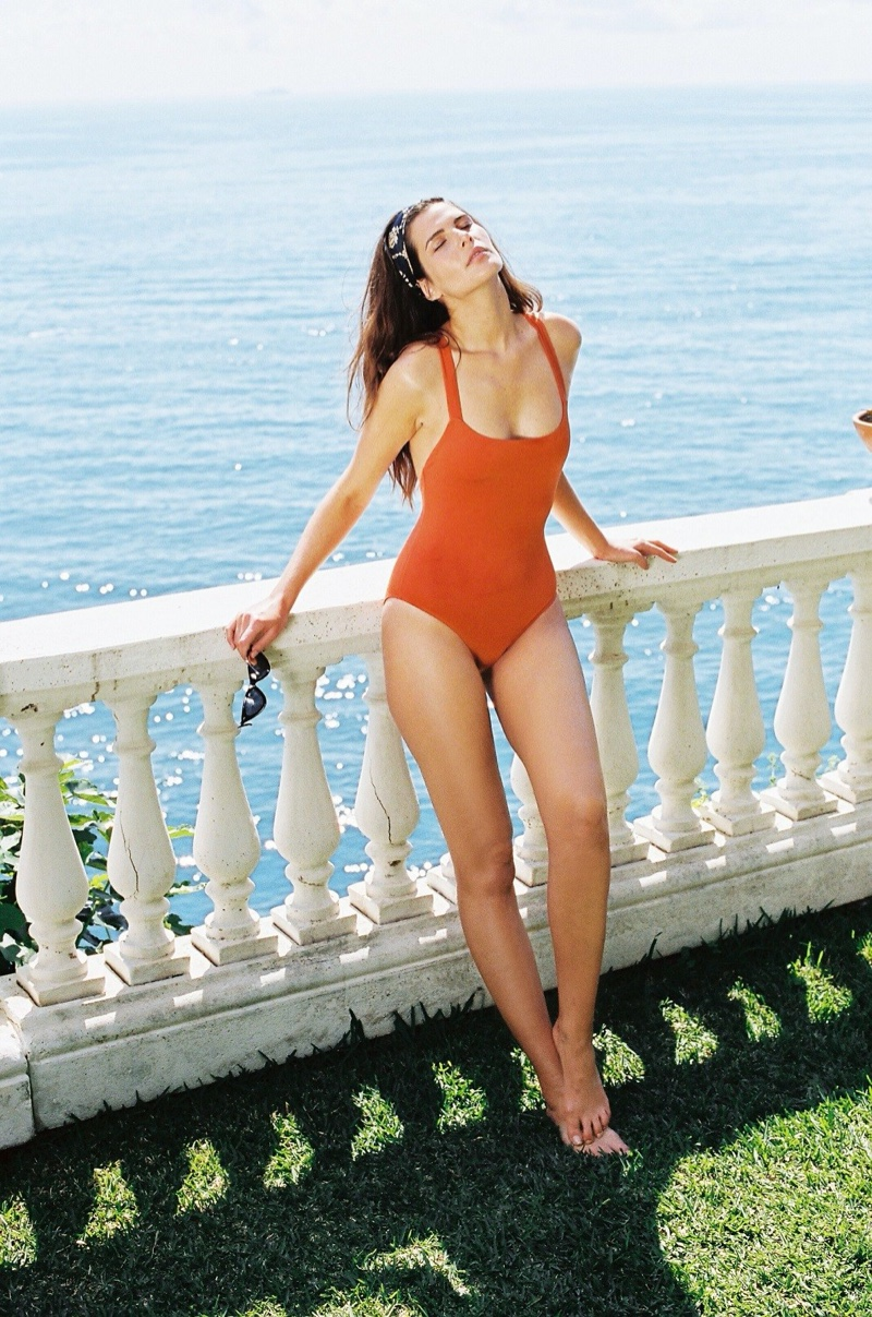 Talia Collins spotlights sustainable style for resort 2020 swimwear collection
