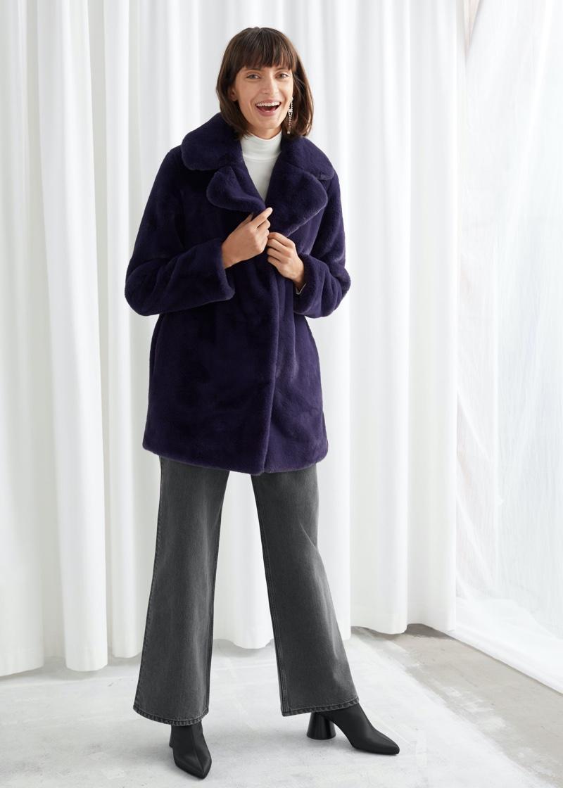 & Other Stories Short Faux Fur Coat $149