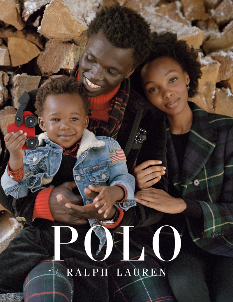 George Okeny, Yanii Gough and son Zola star in Polo Ralph Lauren Holiday 2019 campaign