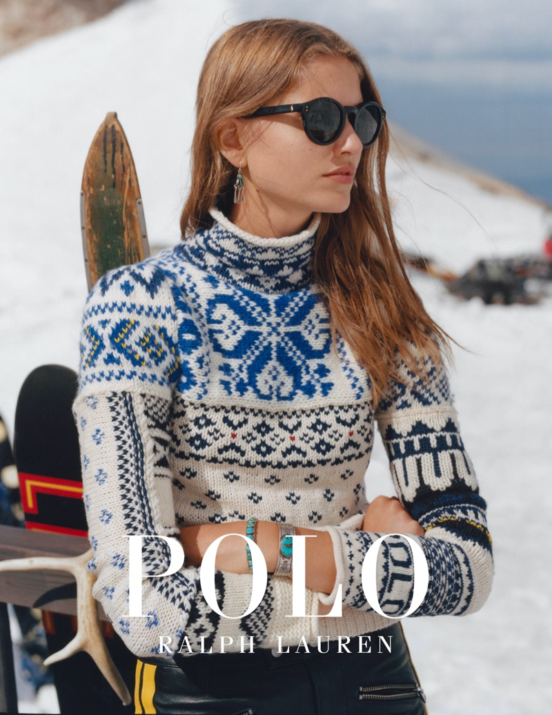 Altyn Simpson fronts Polo Ralph Lauren Holiday 2019 campaign