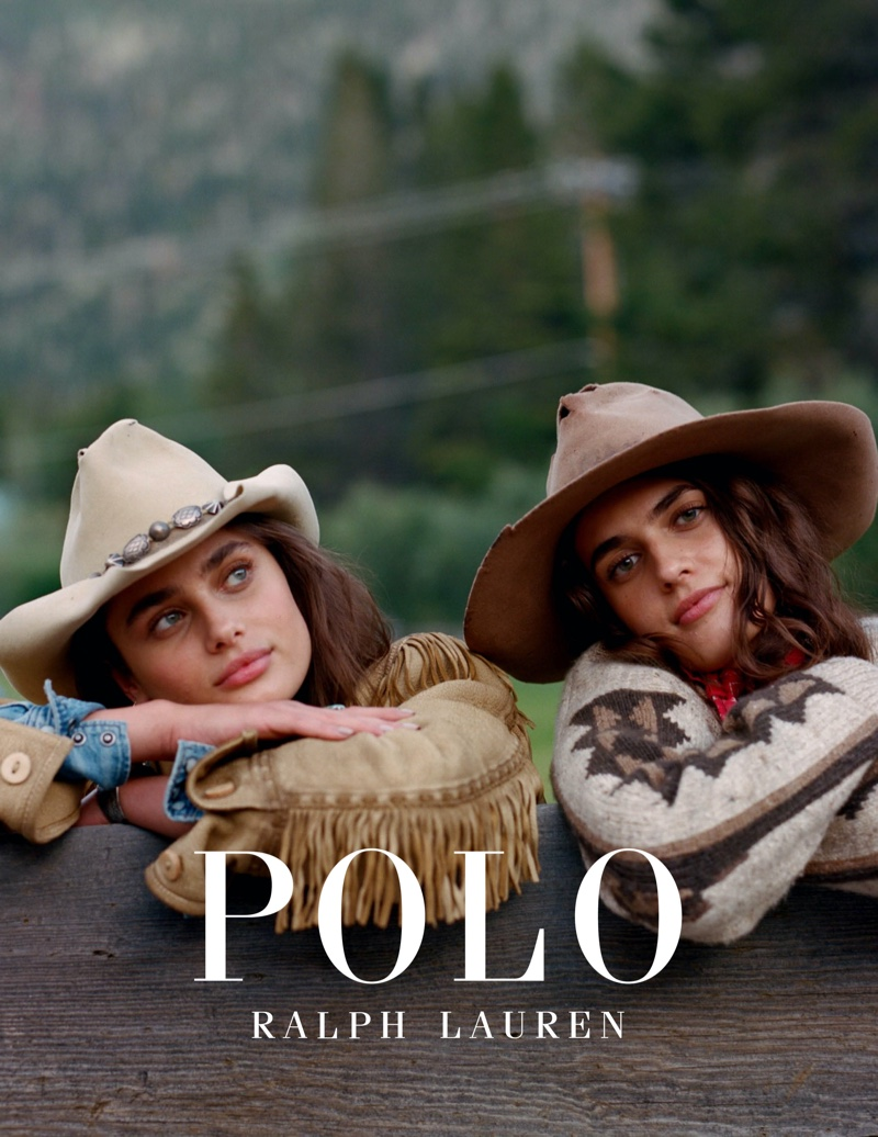 Taylor and sister McKinley Hill star in Polo Ralph Lauren Holiday 2019 campaign