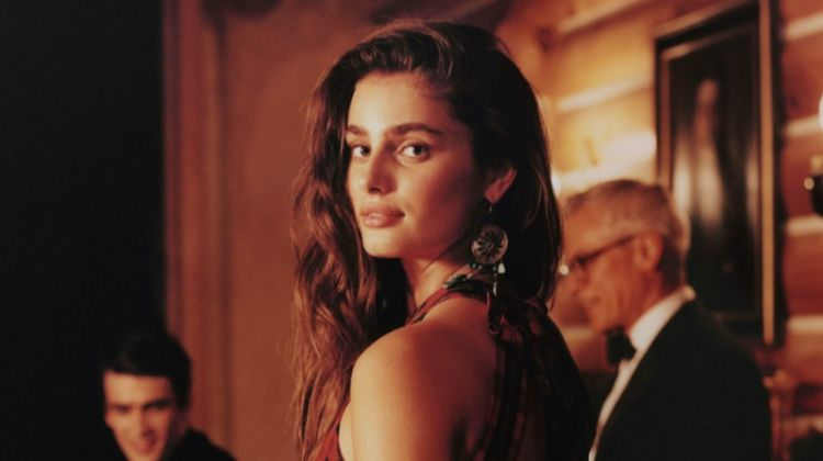 Taylor Hill appears in Polo Ralph Lauren Holiday 2019 campaign