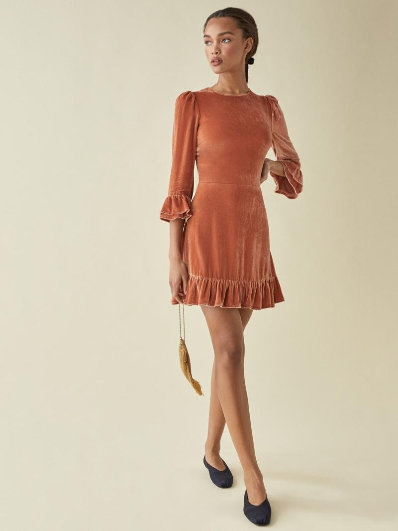 Reformation Mountain Dress in Salmon $248