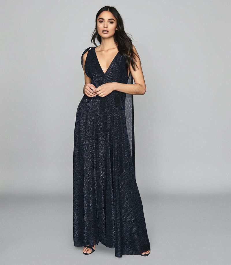Reiss Vivienne Metallic Maxi Dress $620